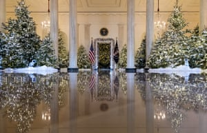 the grand foyer and cross hall are decorated in the theme of the nutcracker suite - White House Christmas Decorations