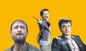 Daniel Radcliffe in (left to right) Jungle; Harry Potter and the Prisoner of Azkaban and Swiss Army Man