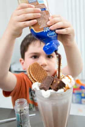 """'I never dreamed I would ever find myself shouting """"add more chocolate sauce"""" at a child.'"""