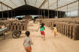 Children often come with indebted parents to live on brick kilns