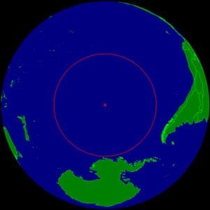 Location of Point Nemo.
