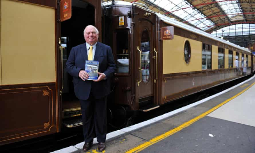 James Sherwood at Victoria Station in London; he spent years and millions tracking down original rolling stock and launched the Venice-Simplon Orient Express in 1982.