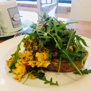 The Black Cat in Clapton, east London, is back. My favourite no-frills vegan anarchist collective cafe. We all need one in our lives. Tofu and leek scramble on sourdough. Obv.