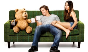 Top marks: starring in Ted with Mila Kunis, which Wahlberg says is his best work.