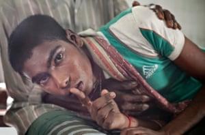 A patient at the intake centre of Pabna mental health hospital, Bangladesh