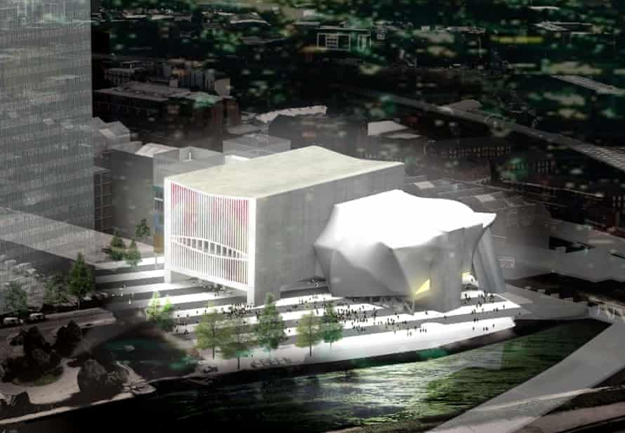 Old school … Koolhaas's proposal for the Factory arts centre in Manchester.