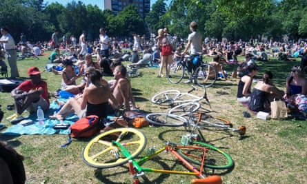 London Fields, which on a hot summer weekend can look as though a festival is underway.