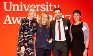 The winners of the Employability initiative award, University of Nottingham, School of veterinary medicine and science.