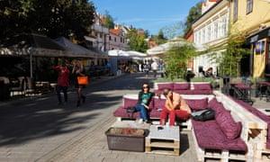 Top 10 restaurants and bistros in zagreb travel the guardian zagreb tkalciceva street altavistaventures Images