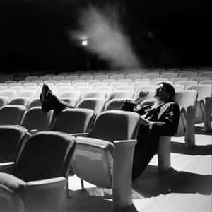 Fonda in a theatre seat at Omaha Nebraska Community Playhouse in March 1961, where he was appearing in a play
