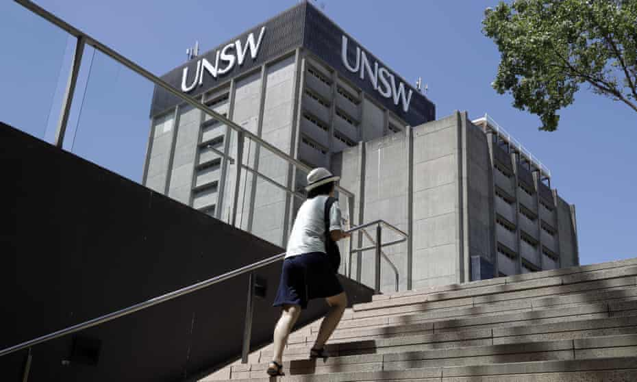 A student at University of New South Wales campus in Sydney