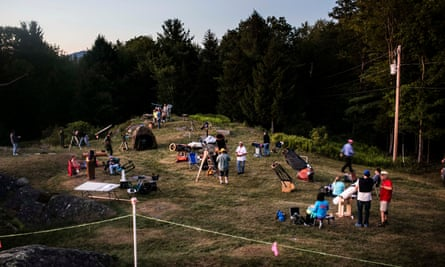 Hours before dark, the field at Stellafane fills with people and telescopes.