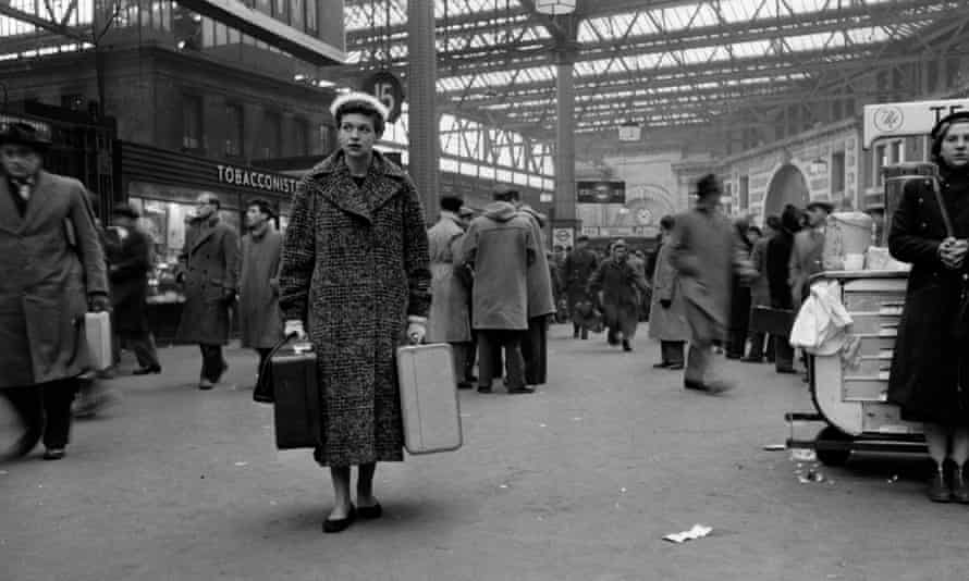 Bert Hardy's photograph of Katharine Whitehorn at Waterloo station in 1956, for a Picture Post feature on loneliness in London.
