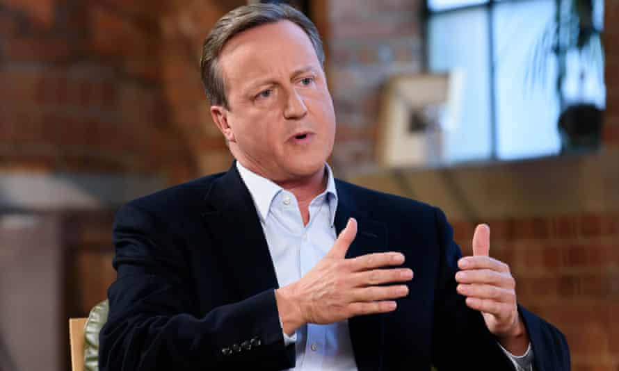 David Cameron interviewed on ITV in 2019