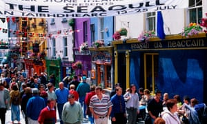 The streets of Galway during the arts festival.
