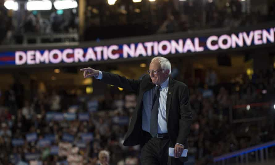 Bernie Sanders at the Democratic convention: leaked emails revealed efforts to undermine the senator.