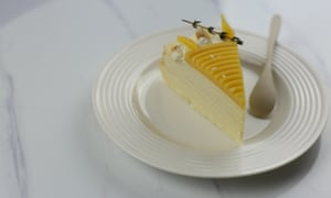 A slice of one of Mille patisserie's mille crepe cakes