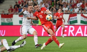 Gareth Bale misses the crucial chance to put Wales ahead in Hungary