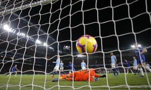 Reverse angle of Kantes goal.