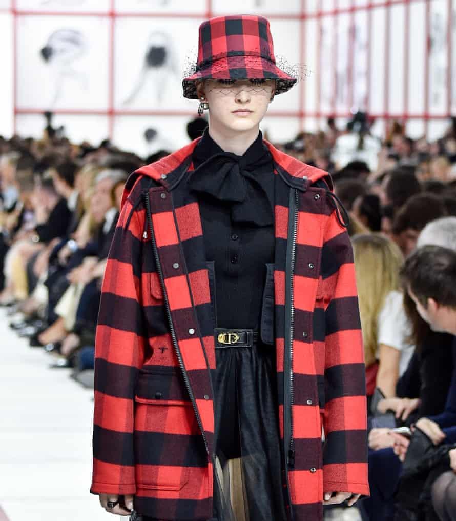 model on Christian Dior runway at Paris Fashion Week Womenswear Fall/Winter 2019/2020