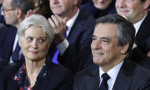 François Fillon with his wife, Penelope