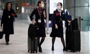 Japan Airlines flight attendants