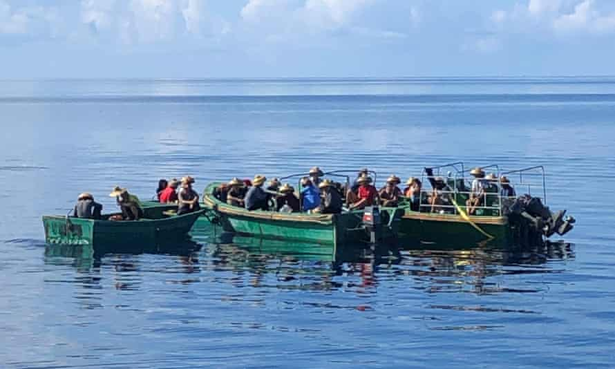 The crew of a Chinese fishing boat detained by Palauan authorities on suspicion of illegally harvesting sea cucumber.
