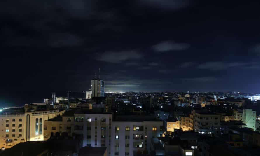 General view of Gaza City