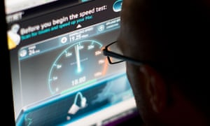 An online broadband speed test