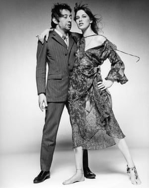 Serge Gainsboroug and Jane Birkin, London, 1969'At the end of the 60s it felt like our innocent decade was finished. The American censorship code was finally broken, and the whole world went sex mad. Gainsbourg had teamed-up with model Jane Birkin, his girlfriend, to record Je t'aime … moi non plus. The song was sophisticated and a bit scandalous. I wanted to create [the image of a] strong female being adored and held by her older European lover. I was hoping for a bohemian attitude crossed with a quintessential French pin-striped suit. Rough, windy, sexy. I think we got the shot'