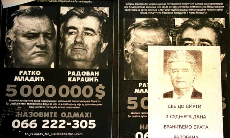 Wanted posters issued for Karadžić and Ratko Mladic.
