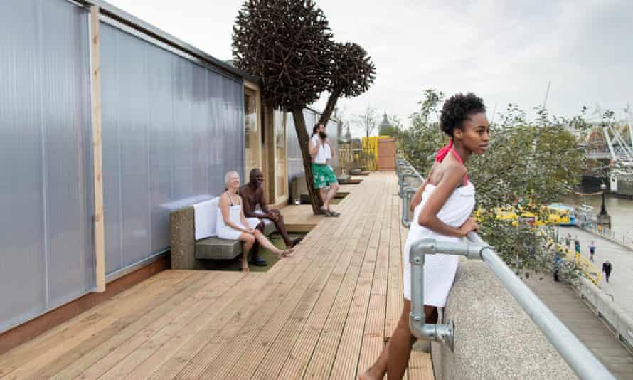 Southbank Centre's Finnish Rooftop Saun.