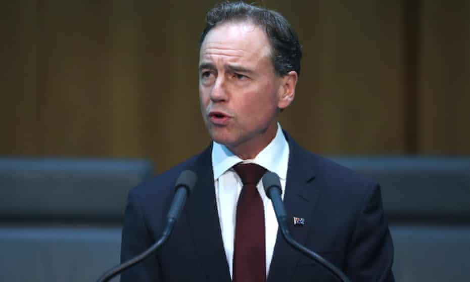 Federal health minister Greg Hunt