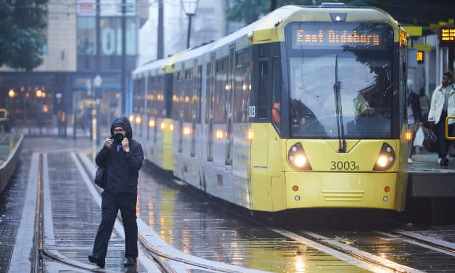 St Peter's Square tram station in central Manchester