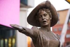 'Our Emmeline', a statue of Emmeline Pankhurst, in Manchester's St Peter's Square