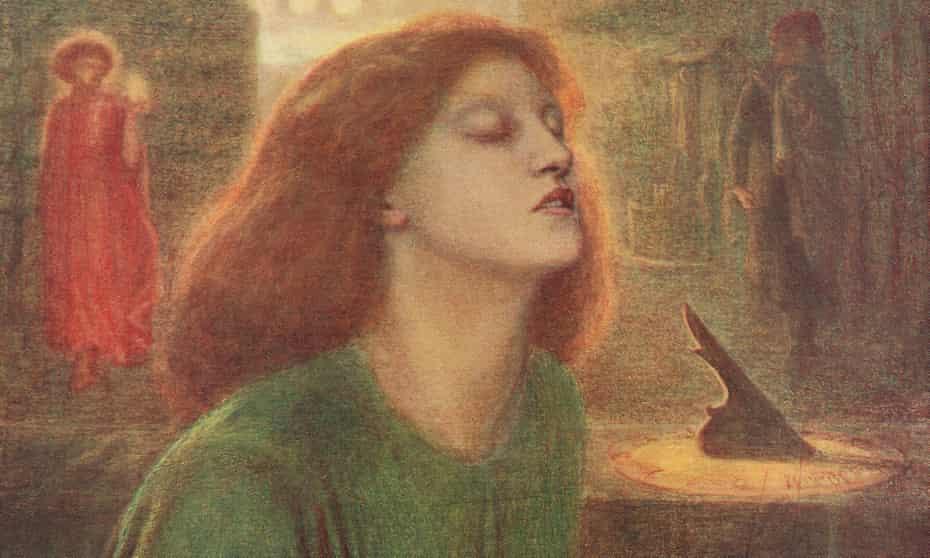 Siddal modelled for the portrait Beata Beatrix by Dante Gabriel Rossetti.
