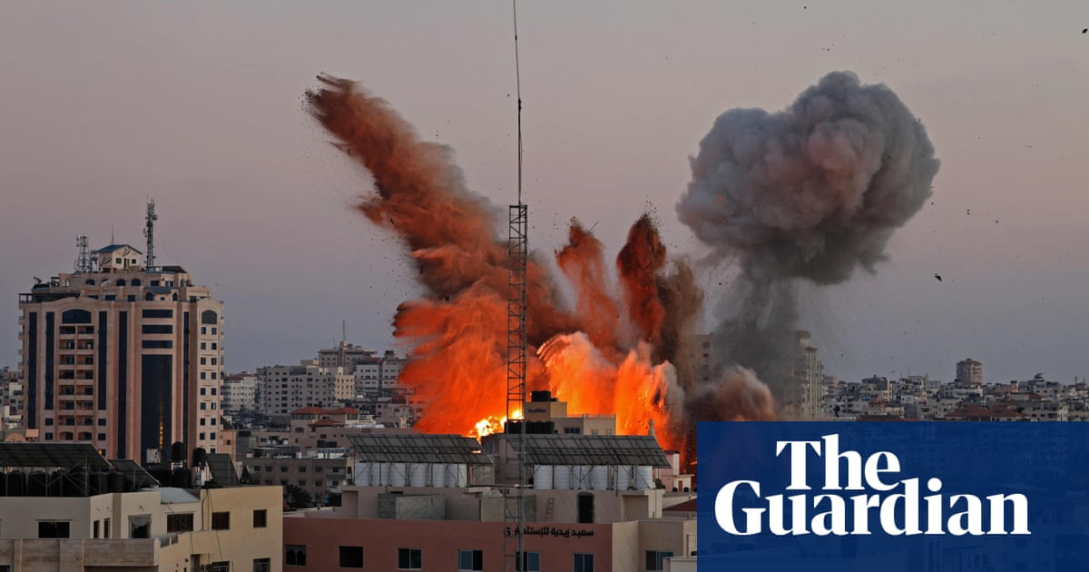Palestinians flee as Israel bombards territory from air, sea and land
