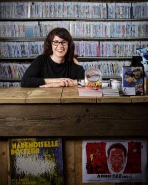 Tara Judah, DVD shop co-director.