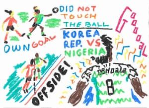 Nigeria v Korea by Luis Mazon.