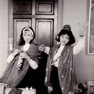 Joan Juliet Buck with Angelica Huston, St. Clerans 1963.