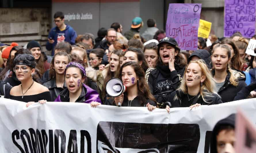 The Elimination of Violence against Women protest, Madrid, on Sunday