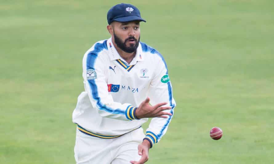 Azeem Rafiq in action for Yorkshire. Of his experience at the club he said: 'It was racist behaviour. They should say so.'