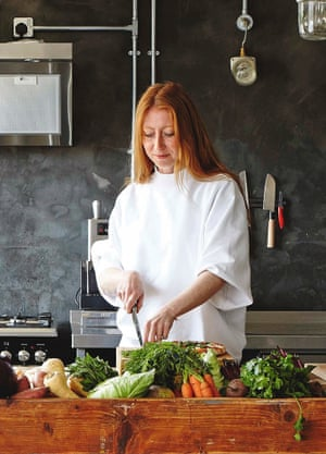 Owner Gigi Sutherland in her kitchen.