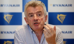 The Ryanair chief executive, Michael O'Leary.
