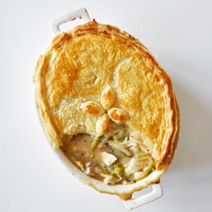 Chicken and tarragon pie.