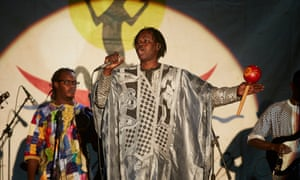 'This festival started as a dream': Baaba Maal plays to the crowds.