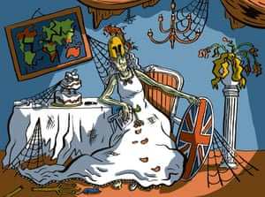 Britannia as Miss Havisham