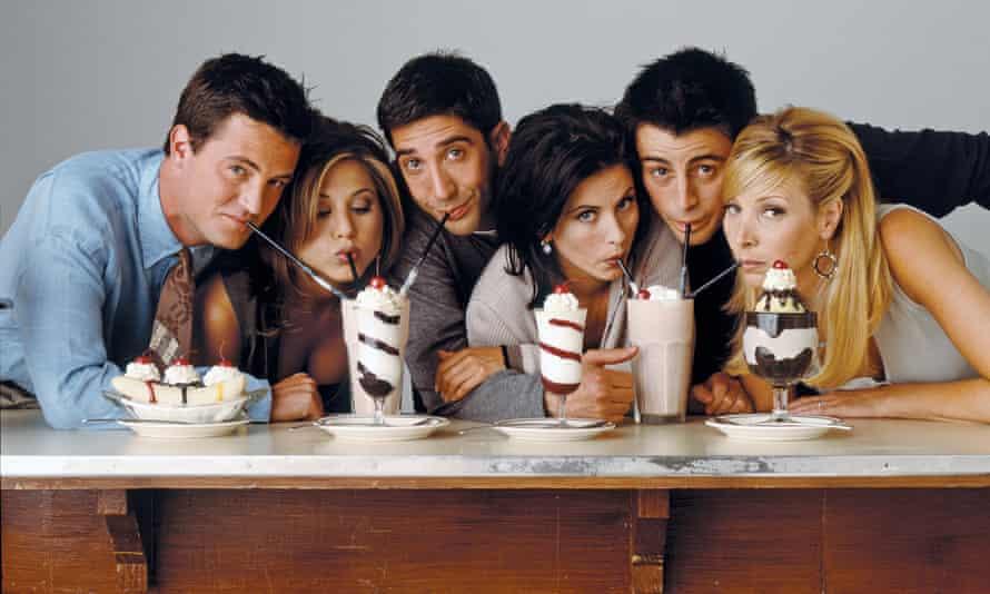 Matthew Perry, Jennifer Aniston, David Schwimmer, Courteney Cox, Matt LeBlanc and Lisa Kudrow.