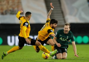 Marcel and Ruben Neves of Wolverhampton Wanderers and Harry Kane of Tottenham Hotspur.