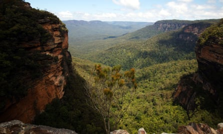 Wentworth Falls, in Australia's Blue Mountains.